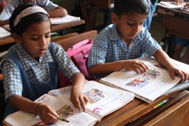 Sponsor a child in 'VJCT's English Medium School for one year